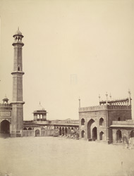 The Jumma Musjid, Delhi, right.